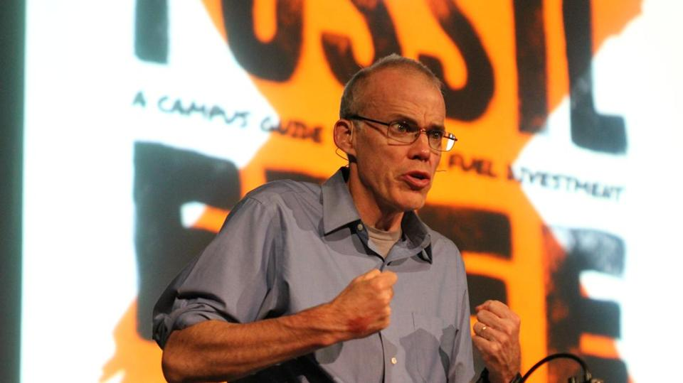 Activist Bill McKibben speaks about persuading universities to divest from fossil fuels.