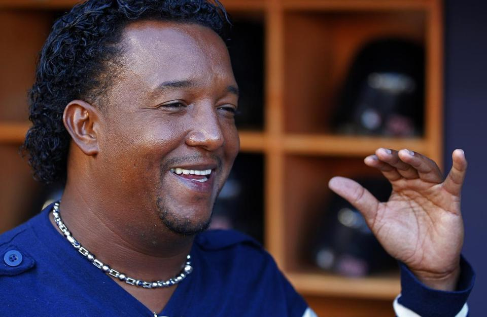 Pedro Martinez, shown here last weekend at Yankee Stadium during the Red Sox-Yankees series, will join TBS' postseason coverage.