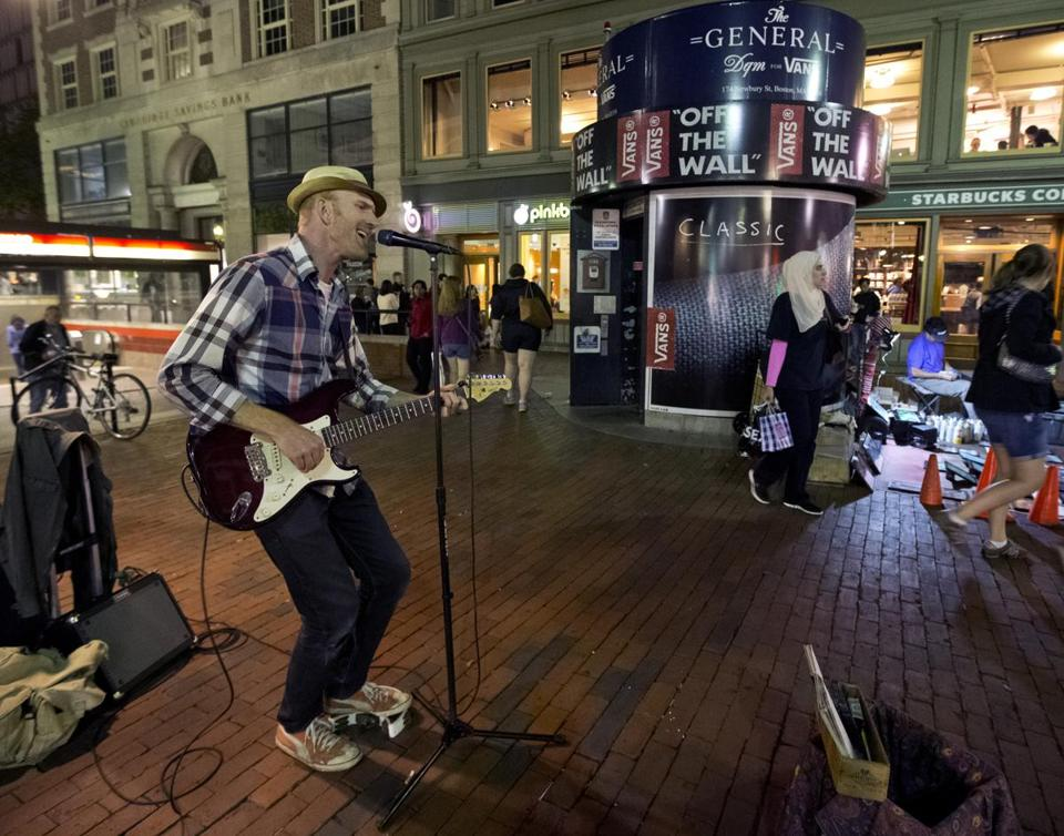 Mike Hastings recently performed in Harvard Square, which is seeing a new infusion of night life.