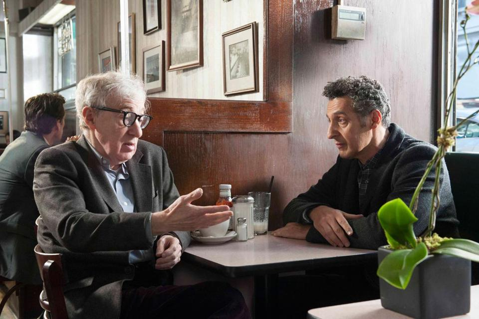 "Woody Allen and John Turturro in Turturro's ""Fading Gigolo."""