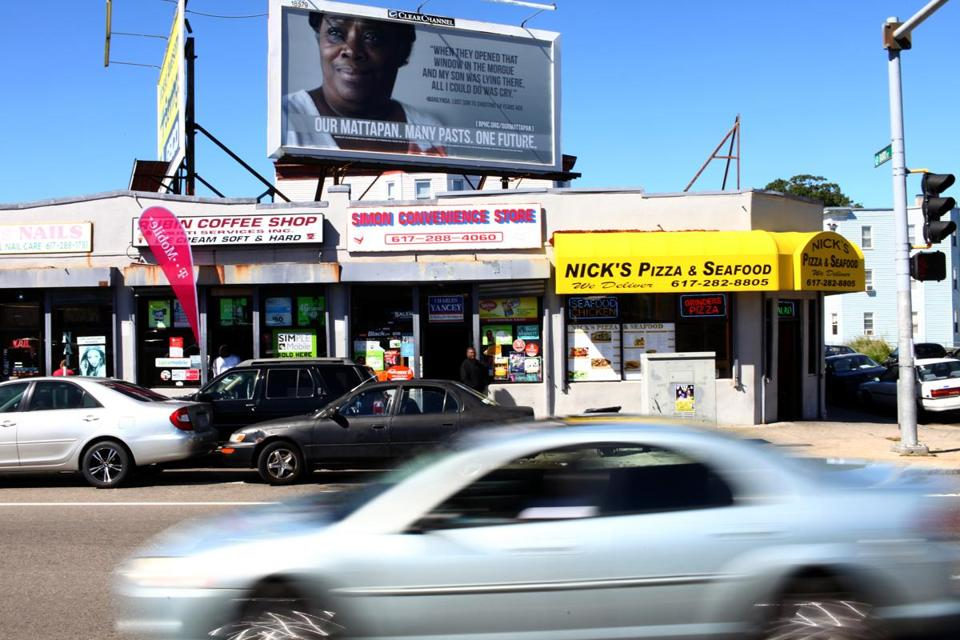 Mattapan residents are featured in a series of billboards for a Boston Public Health Commission violence prevention campaign.