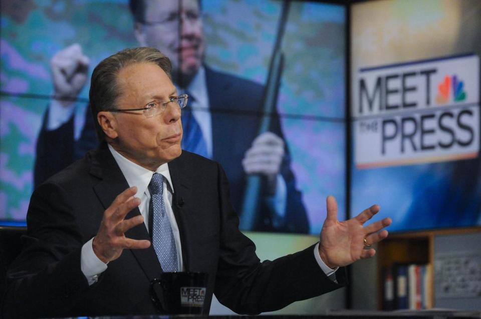 NRA official Wayne LaPierre said, 'If we leave these homicidal maniacs on the street . . .  they're going to kill.""