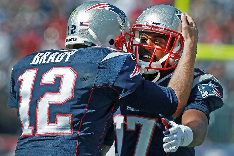 Rookie receiver Aaron Dobson was targeted 10 times by Tom Brady and caught seven passes for 52 yards.