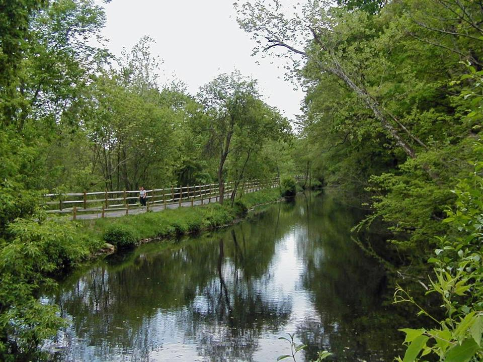 A scenic walk along the Blackstone River.