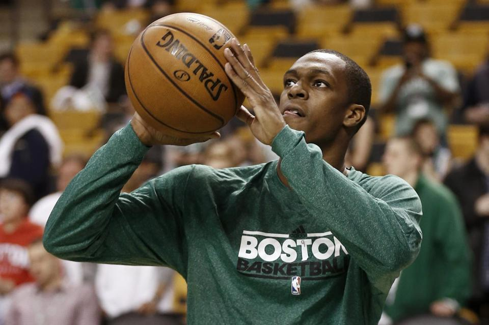 "Danny Ainge said he would be ""shocked"" if Rajon Rondo (above) plays in the regular-season opener Oct. 30."