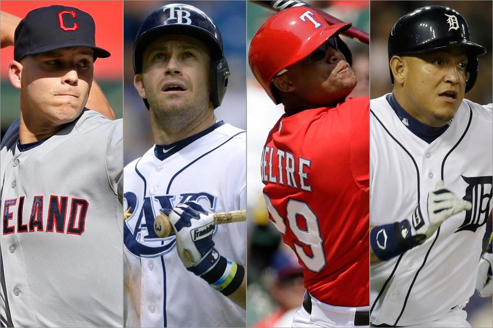 Chances are, the Red Sox will either face (from left) Justin Masterson and the Indians, Evan Longoria and the Rays, Adrian Beltre and the Rangers, or Miguel Cabrera and the Tigers.