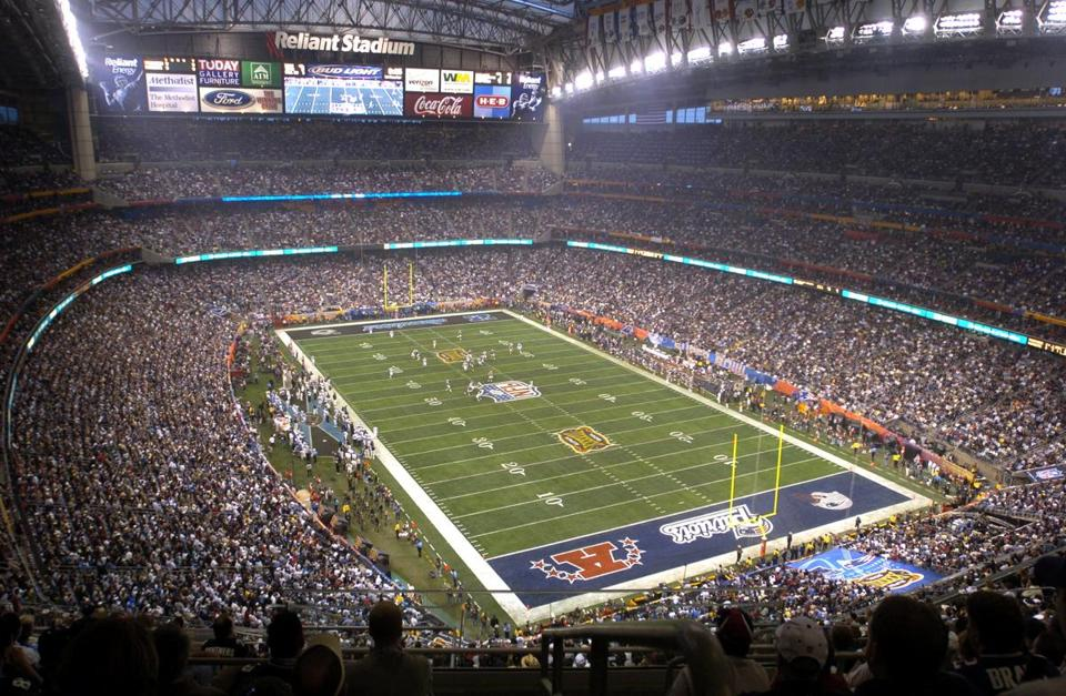 Houston's Reliant Stadium hosted a sellout crowd at Super Bowl XXXVIII.