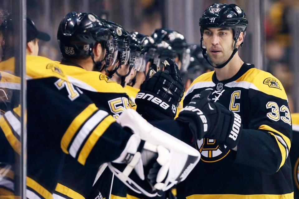 The Bruins scored two more power-play goals in Monday night's exhibition win over Washington, both by the hand of Zdeno Chara.