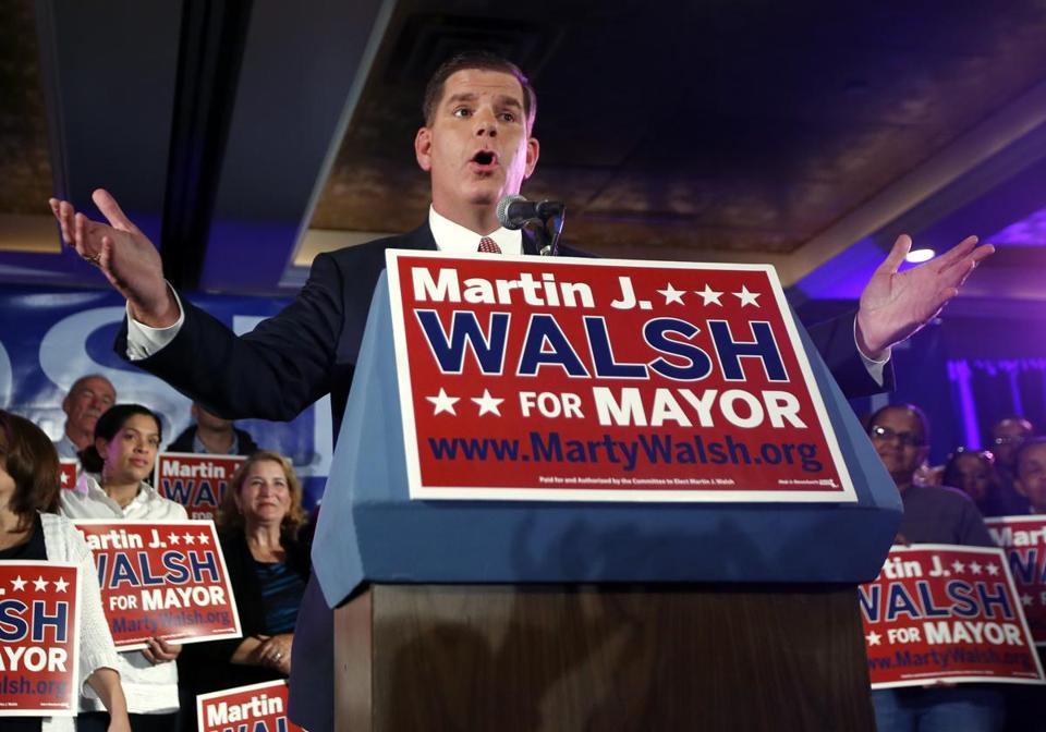 Mayor-elect Martin Walsh.