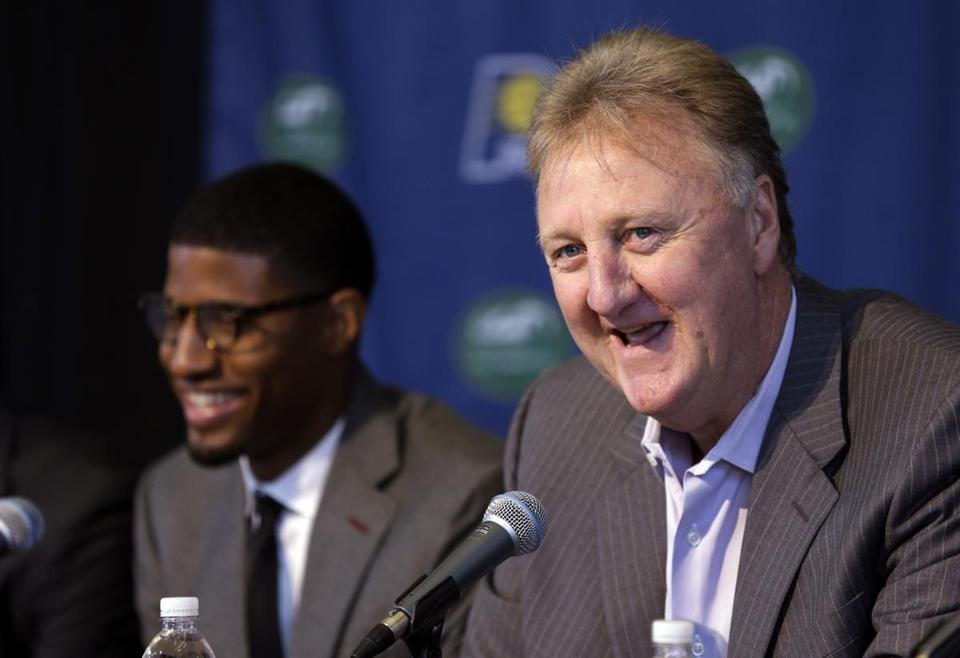 Former Celtic Larry Bird, speaking at a news conference Wednesday, is selling his Naples, Fla., mansion for $4.8 million.