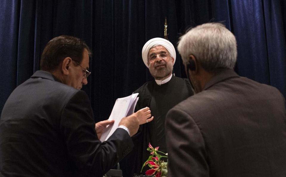 President Hasan Rouhani of Iran, who was in New York,  had a 15-minute call with President Obama. They agreed to accelerate talks on the dispute over Iran's nuclear program.