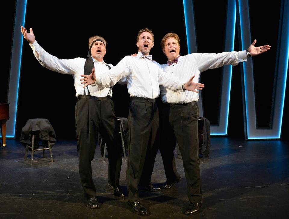 "Marc Kudisch (above) in ""Baritones Unbound"" champions what he views as the disappearing baritone voice in popular music. Top (from left): Kudisch, Ben Davis, Jeff Mattsey perform."