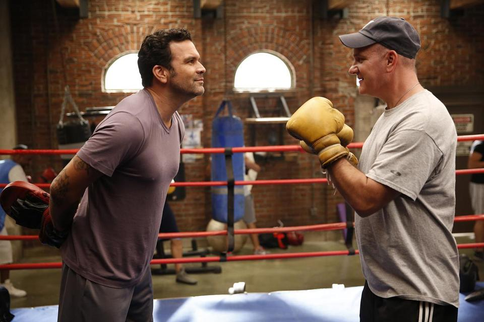 """He's such a good dude,"" says Ricardo Chavira (left) of Mike O'Malley, his new costar on NBC's ""Welcome to the Family."""