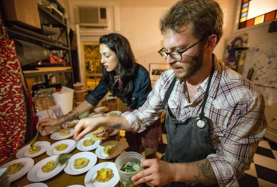 Katrina Jazayeri and Joshua Lewin, chef at Beacon Hill Bistro, hosted a Texas-style dinner, which included dance lessons.