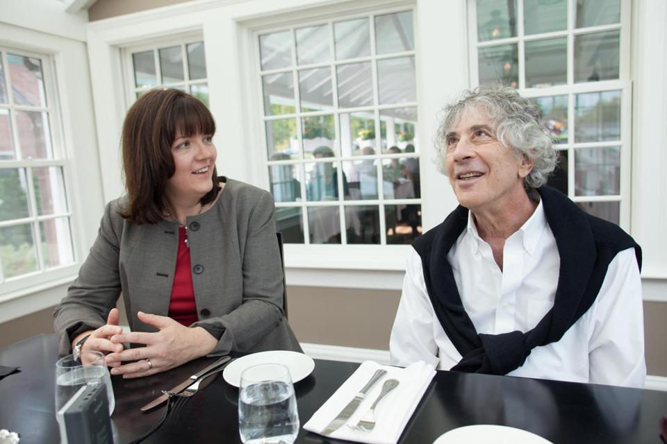 Lisa Stoffer and Michael Lesy at 30Boltwood in Amherst earlier this month.