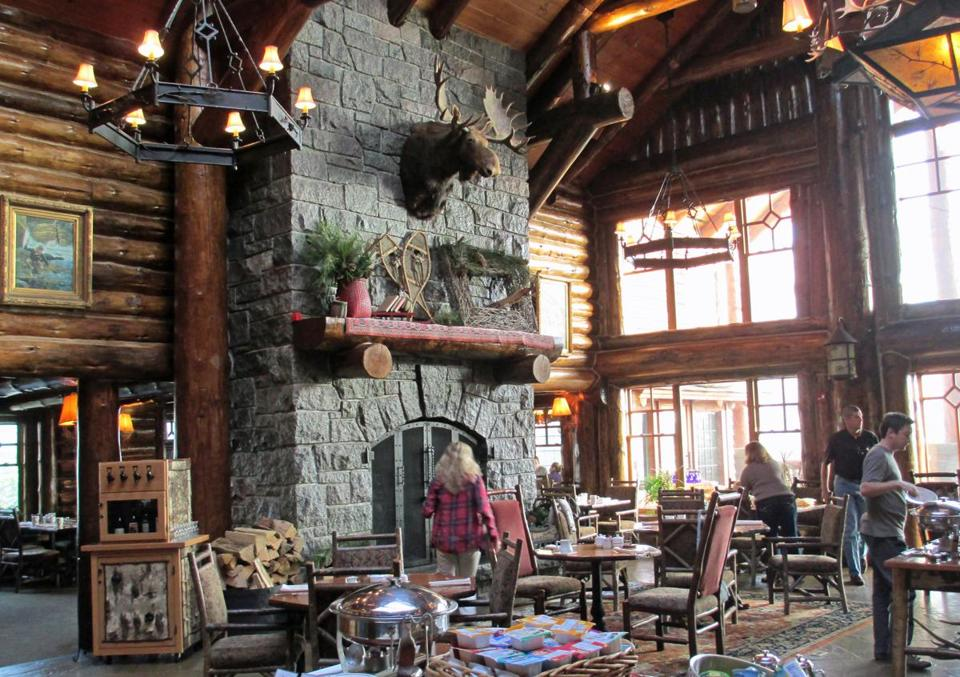 The dining room at Whiteface Lodge offers a cozy start or end to your day.