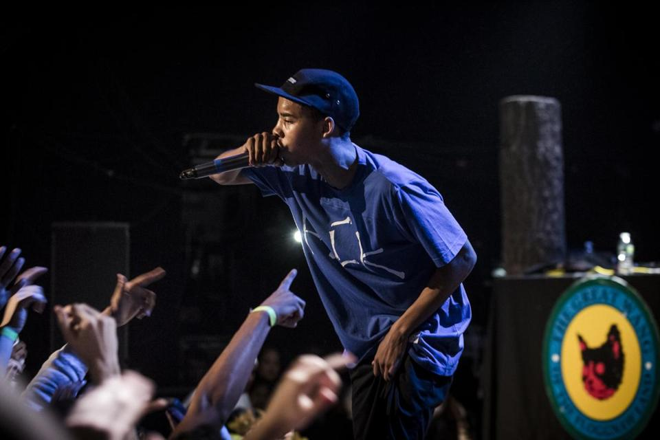 Earl Sweatshirt (pictured performing earlier this year in New York) played to sold-out crowd Sunday at The Sinclair.