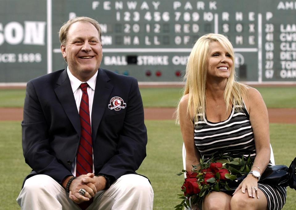 Curt Schilling with his wife, Shonda.