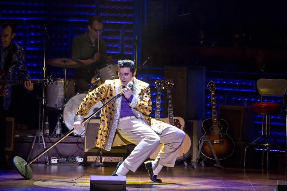 "Tyler Hunter stars as Elvis Presley in the national touring production of ""Million Dollar Quartet."""