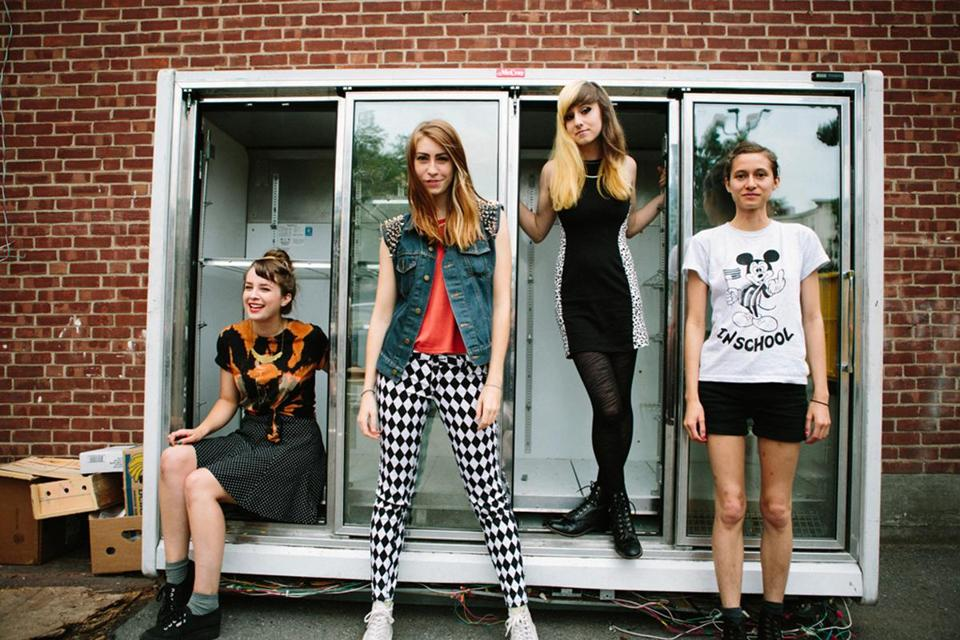 From left: Phoebe Harris, Abby Weems, Ally Einbinder, and Victoria Mandanas of Potty Mouth.