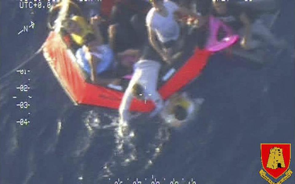 Migrants climbed into a life raft deployed by a Maltese aircraft. The disaster was the second in the area in a week.