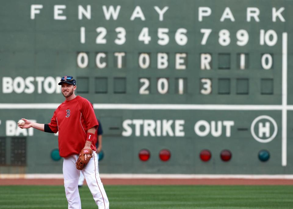 Stephen Drew worked out Thursday at Fenway Park.