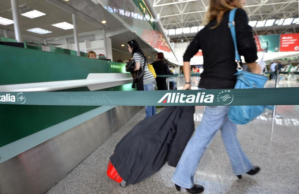 A $400 million capital increase for Alitalia includes up to $101 million from the Italian Postal Services, and the rest from the consortium that runs Alitalia and a bridge loan from banks.