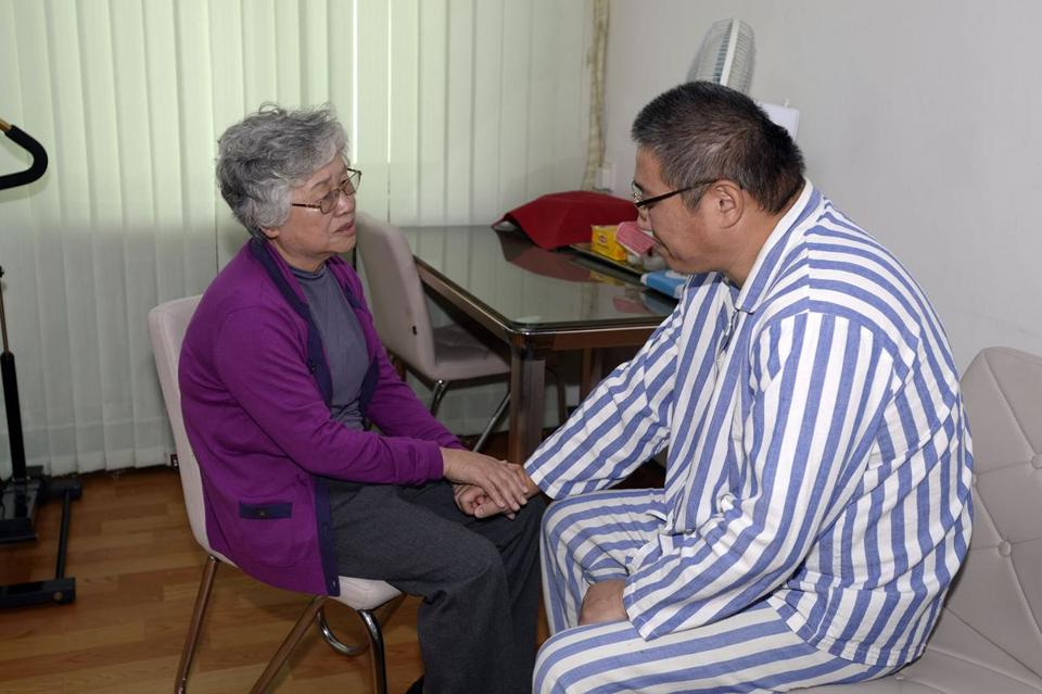 Kenneth Bae met with his mother, Myunghee Bae, in a North Korean hospital.