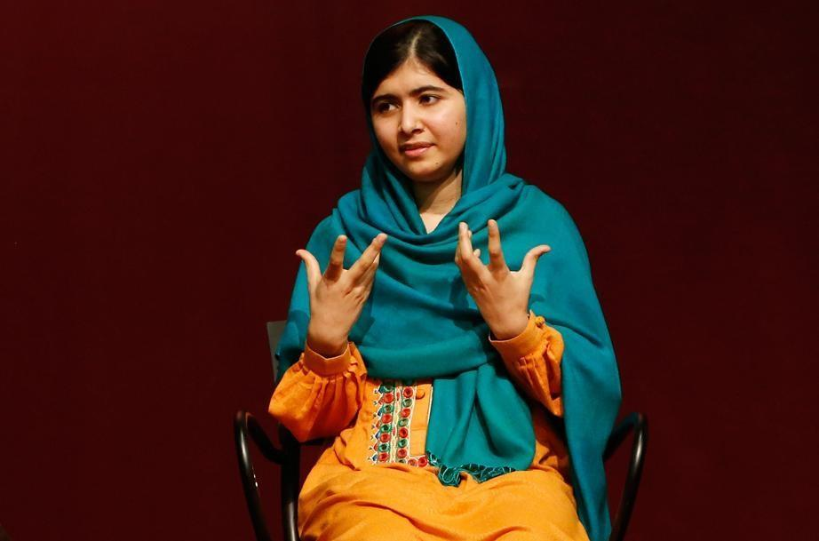 "Malala Yousafzai discussed her book, ""I am Malala"" at an event hosted by the John F. Kennedy Library held at Boston College High School on Saturday."