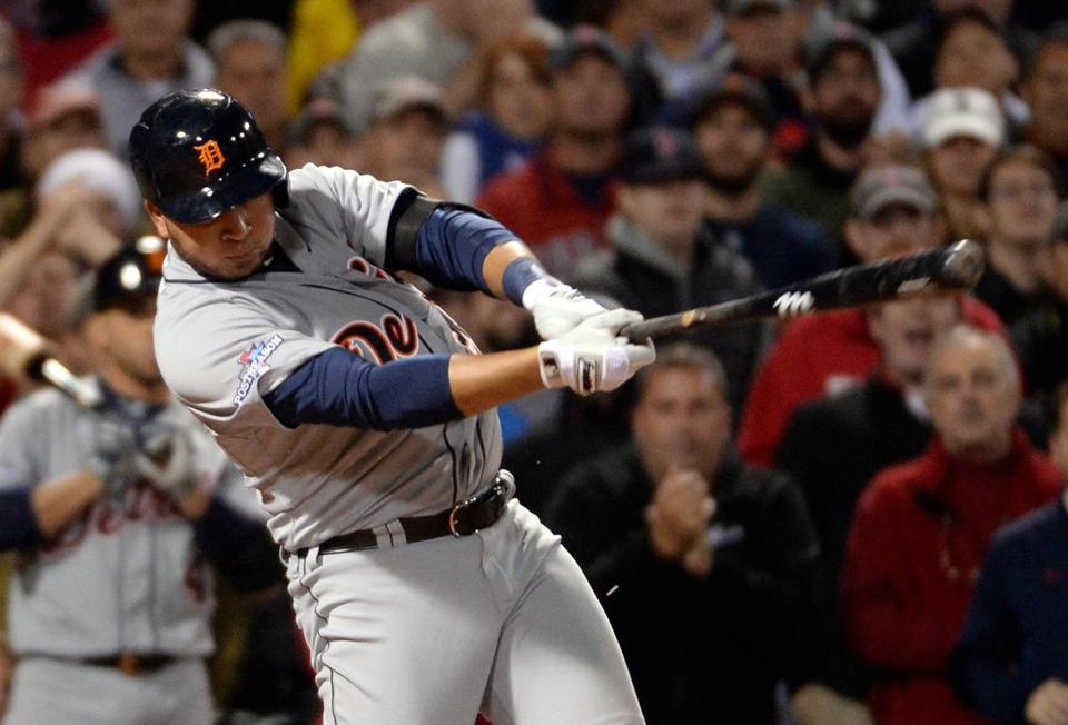 Jhonny Peralta hit an RBI single against the Red Sox in Game 1 of the ALCS.