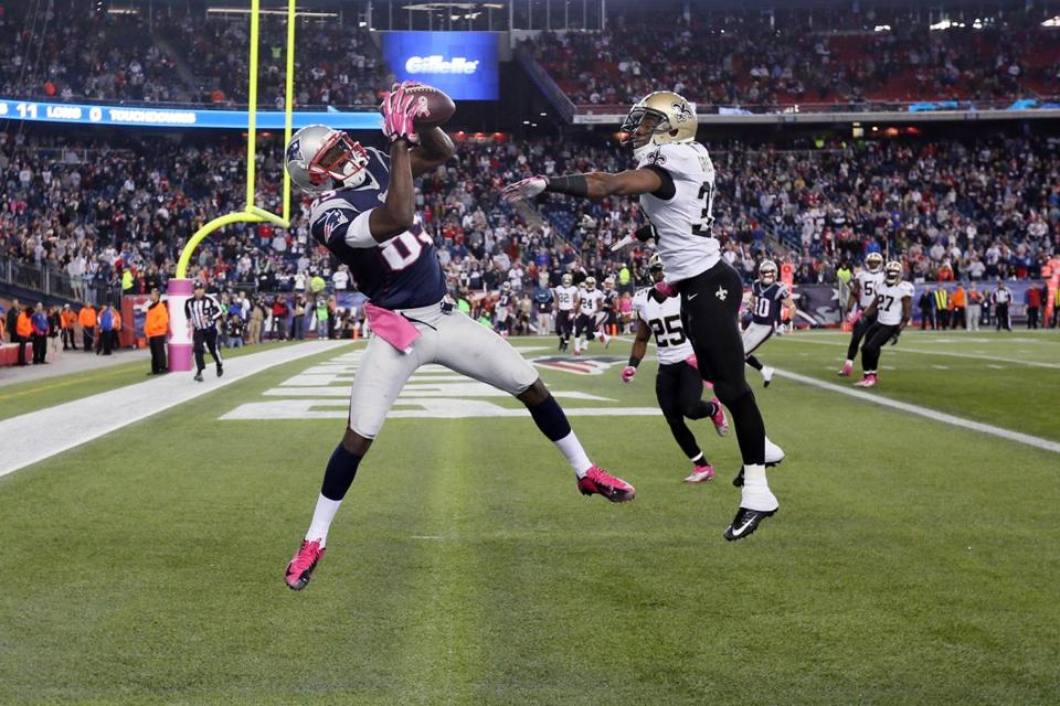 Kenbrell Thompkins held onto the ball, scoring the winning touchdown with five seconds remaining in the game.