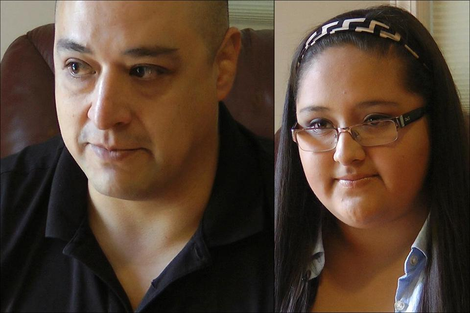 Rafael Sanchez, a Colombian living in New Hampshire, is waiting for an immigration hearing. His daughter, Karina, fears she won't get to college without a green card.