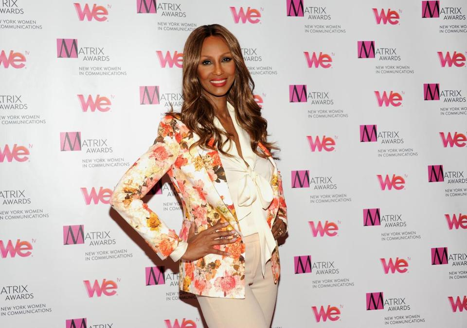 Iman will receive an award for promoting diversity in fashion.