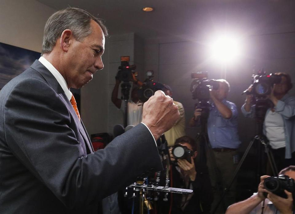 """We fought the good fight. We just didn't win,"" Speaker John Boehner said of one of his most humiliating defeats."