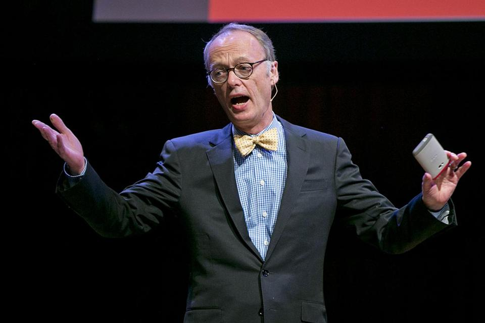 "Chris Kimball of ""America's Test Kitchen"" at Sanders Theatre."