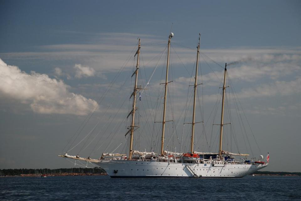 The Star Flyer anchored off Hanko Island, where the Baltic Sea meets the Gulf of Finland.
