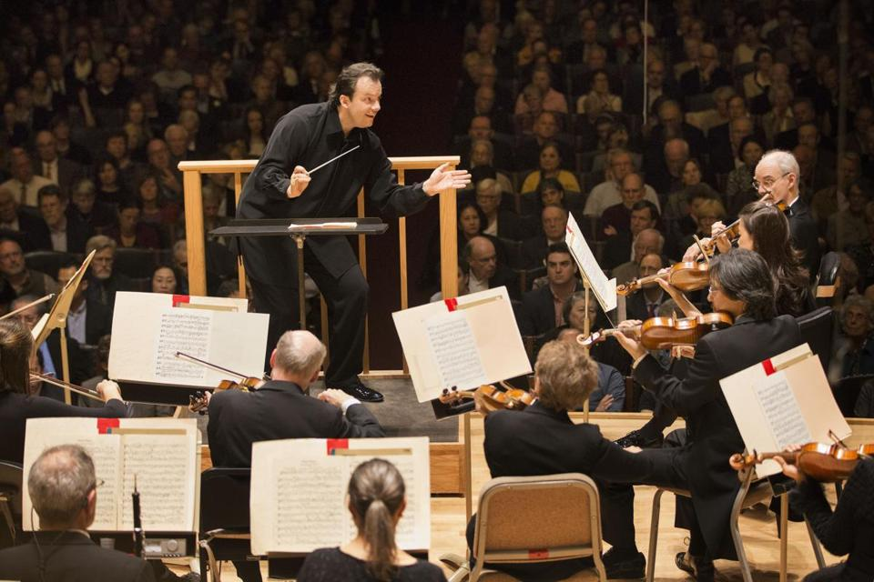 Andris Nelsons led the Boston Symphony Orchestra for the first time Thursday night since his appointment as the BSO's next music director.
