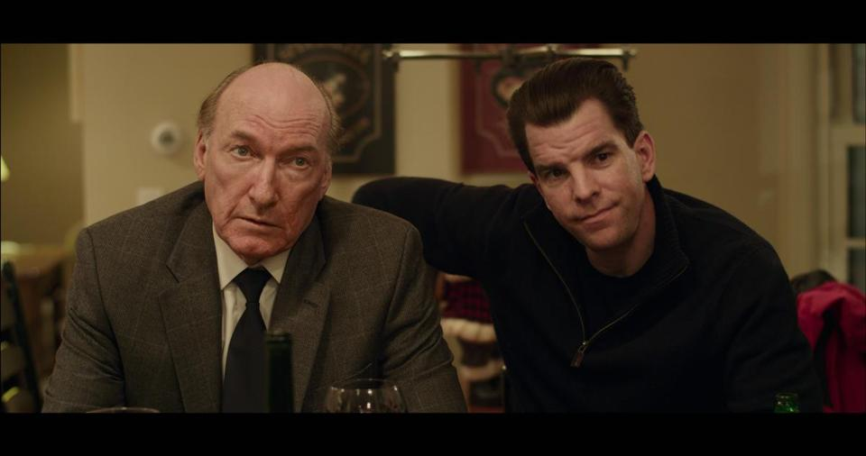 "Ed Lauter (left), as Big Jim, with Michael McGlone in ""The Fitzgerald Family Christmas,"" directed by Edward Burns."