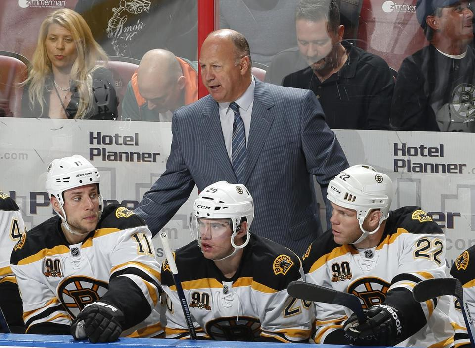 "Bruins coach Claude Julien on his team's play against the Panthers: ""I can't say I'm pleased with our game tonight."""
