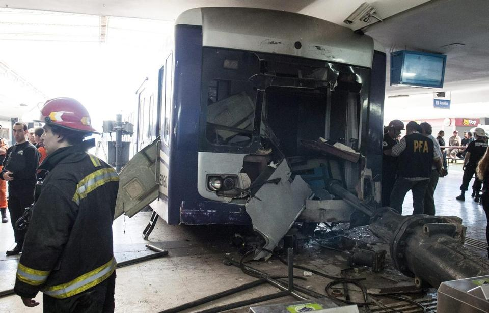 Argentina's security secretary, Sergio Berni, said it was too early to identify the cause of the commuter train crash.