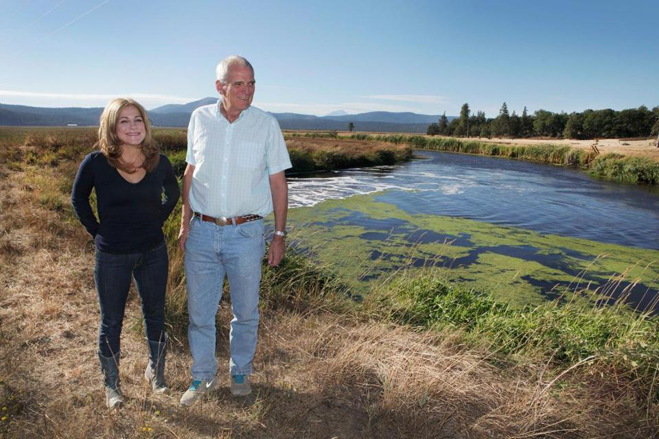 Barbara Mattaliano and George Denny at the Goose Valley Natural Foods farm in Burney, Calif.