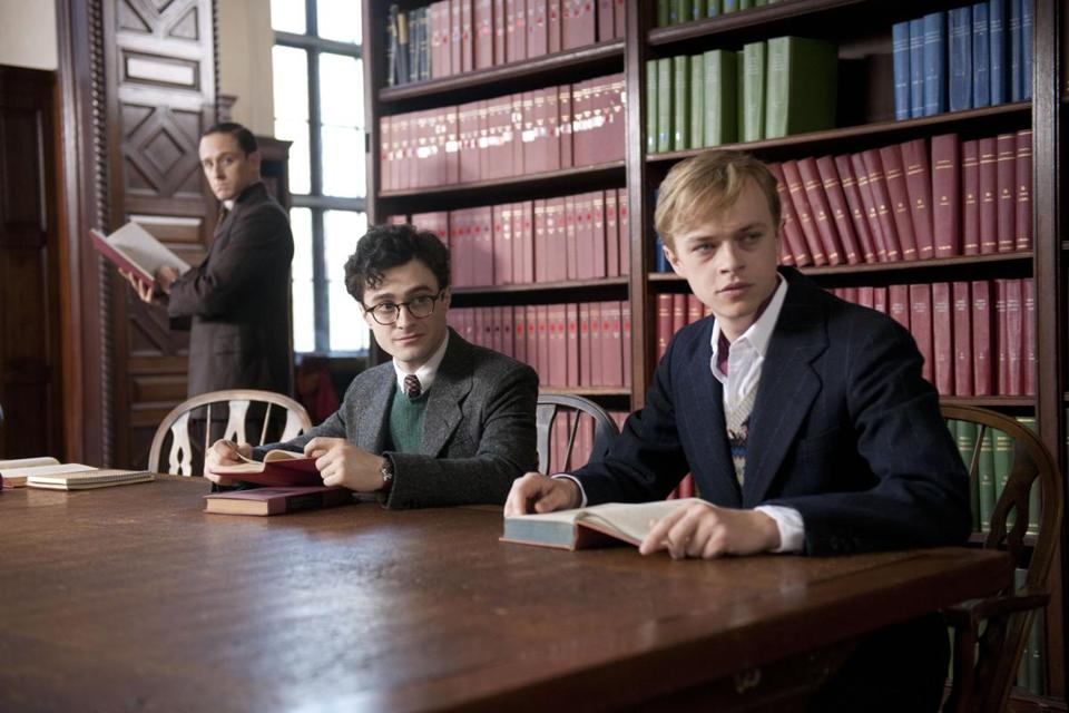 "From left: Ben Foster, Daniel Radcliffe, and Dane DeHaan  in ""Kill Your Darlings."""