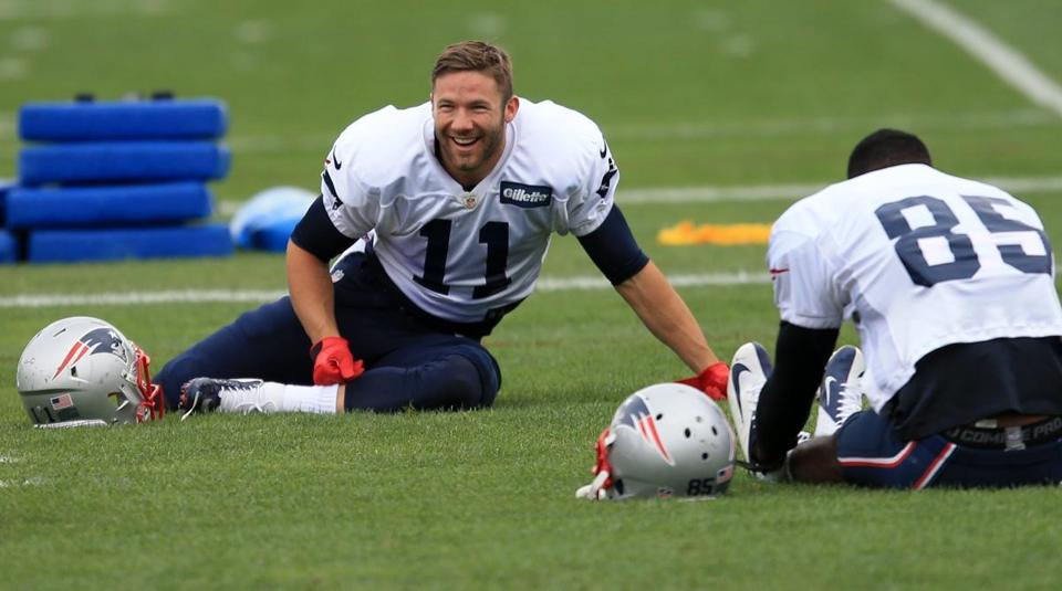 Julian Edelman (left) was removed from the injury report.