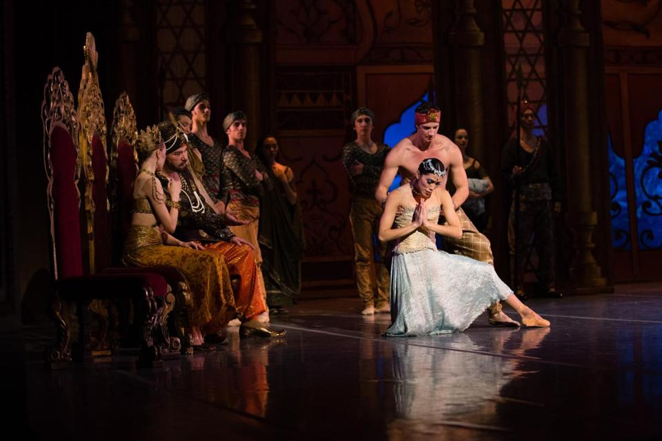The Boston Ballet's performance of La Bayadère at the Opera House managed to keep the focus on the feelings.