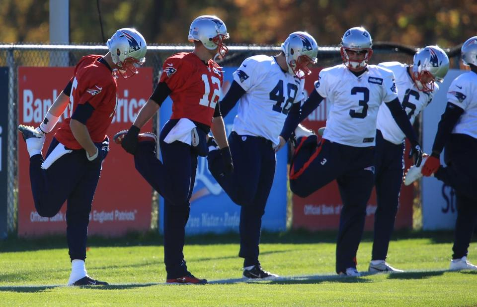 Tom Brady (12) and his teammates hope to have a leg up on the Dolphins, who visit Gillette Stadium on Sunday.