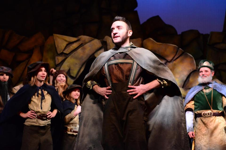 "Andrew Barbato as Bilbo Baggins in Wheelock Family Theatre's production of ""The Hobbit.''"