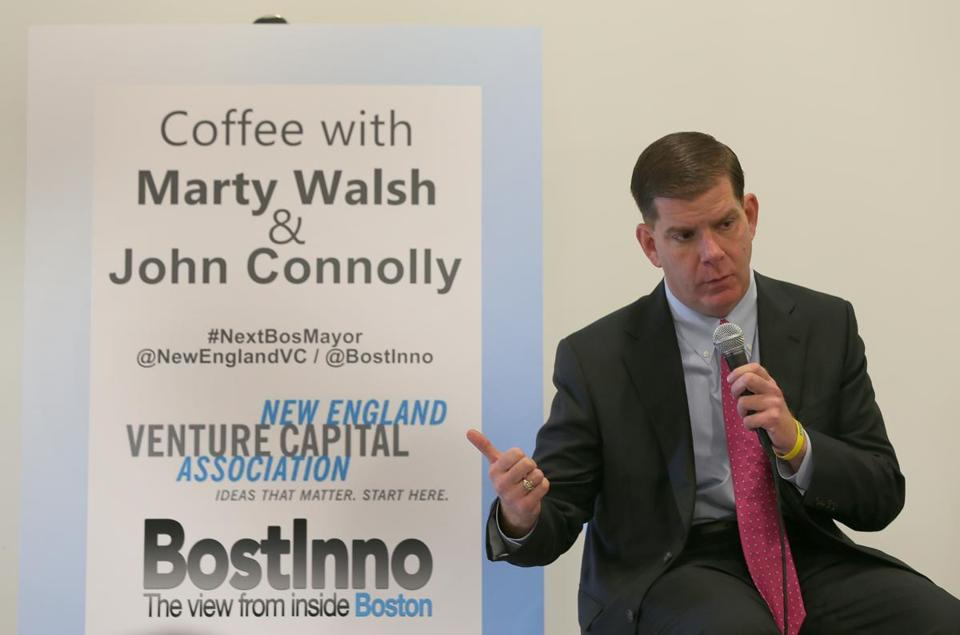 Mayor-elect Martin J. Walsh participated in a high-tech forum with opponent John Connolly in October.