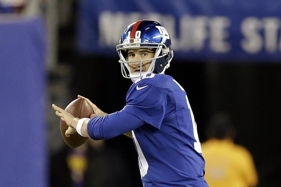 Quarterback Eli Manning and the Giants try to make it two wins in a row when they visit the Eagles in Philadelphia.