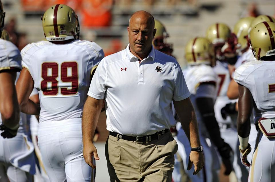 Coach Steve Addazio wants his Eagles to make a strong stretch drive with six games left.