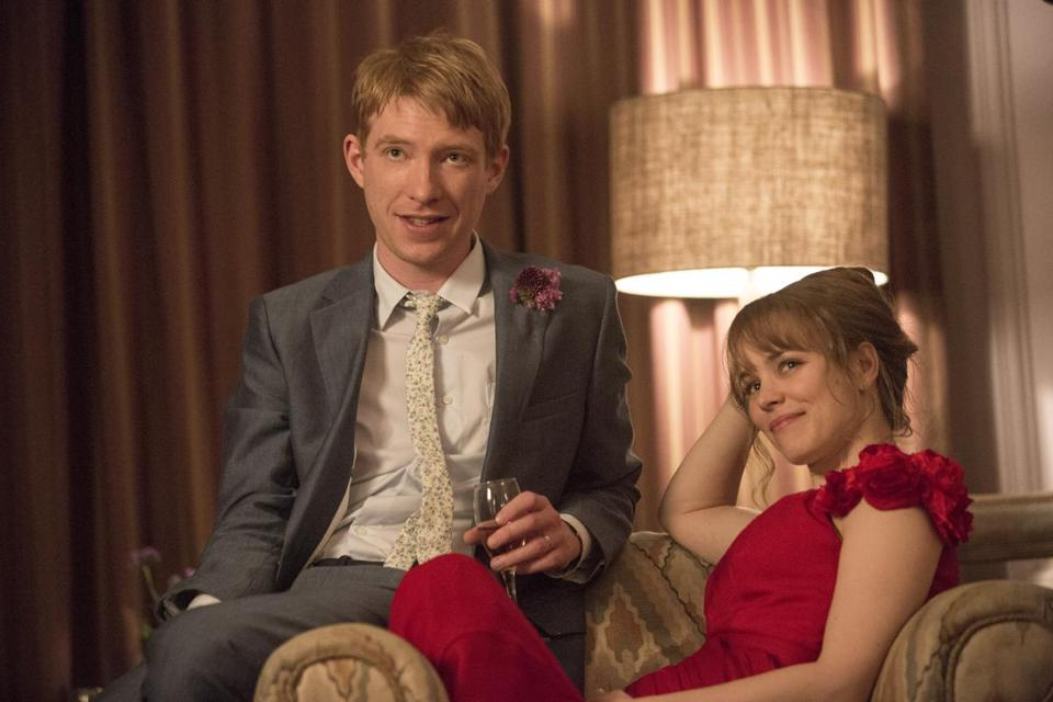 "Domhnall Gleeson as Tim and Rachel McAdams as Mary in the romantic drama  ""About Time."""